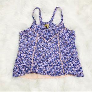 Simply Vera Wang Princess Blue & Pink Print Blouse